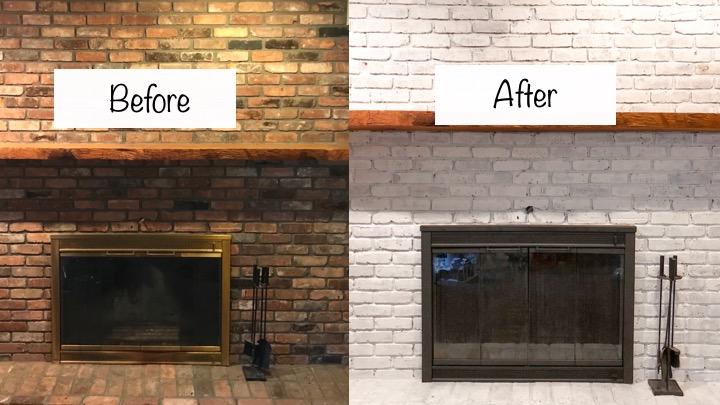 Whitewashed Brick Fireplace Update, White Wash Brick Fireplace Images