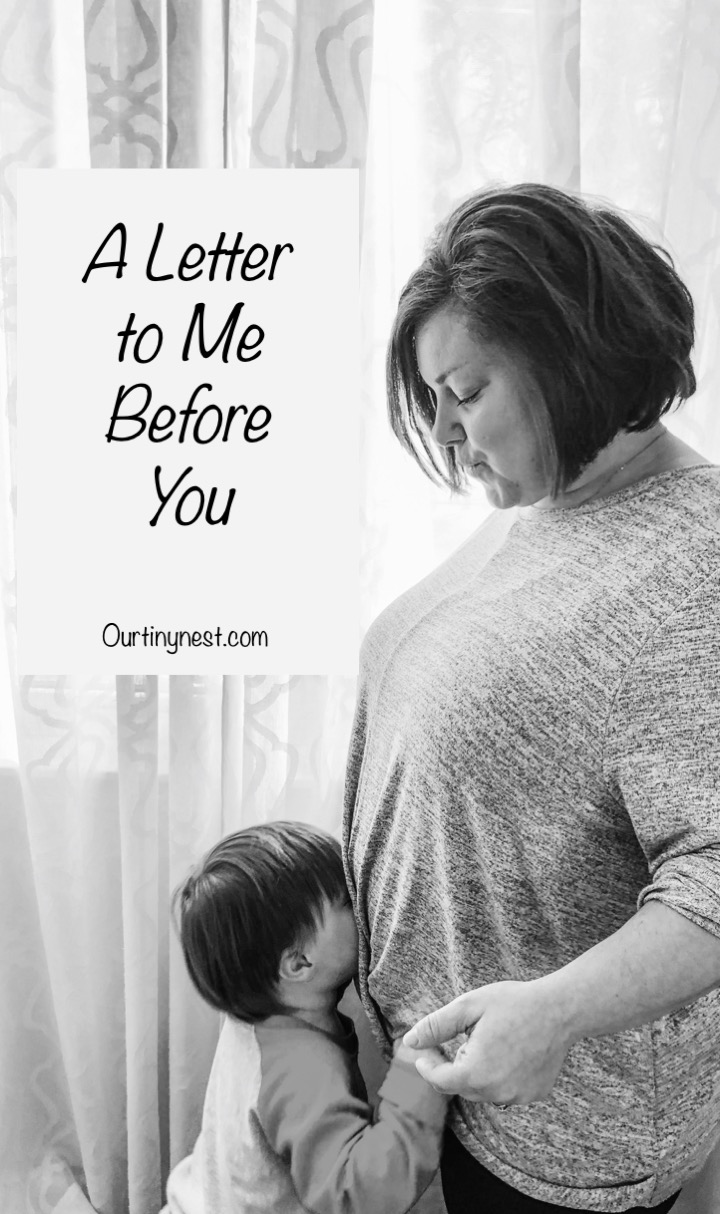 a letter to me before you