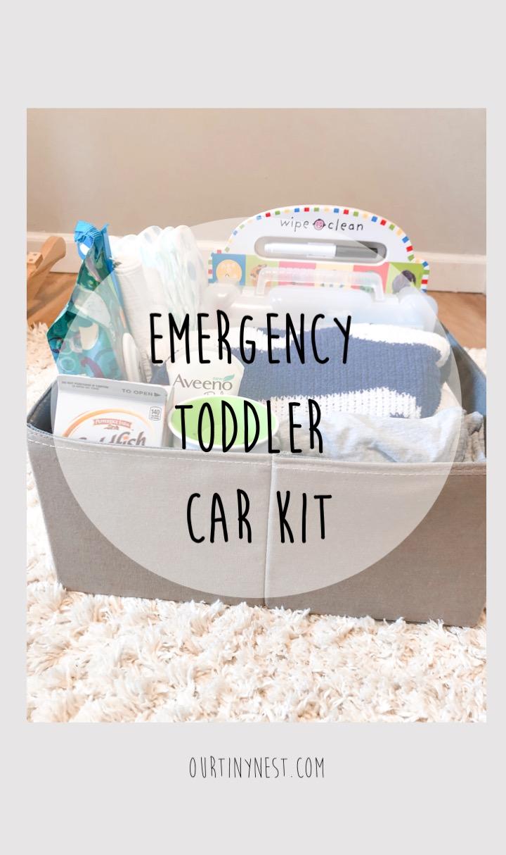 emergency toddler car kit