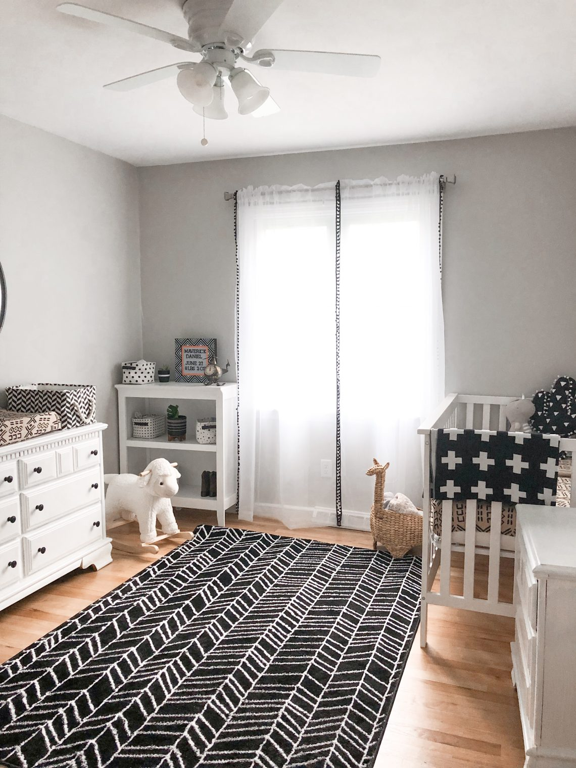 Monochrome nursery reveal