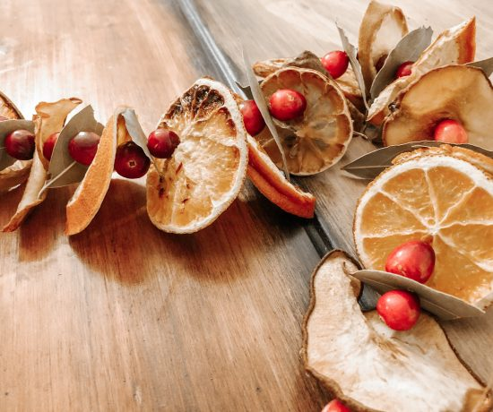 How to make a dried fruit garland