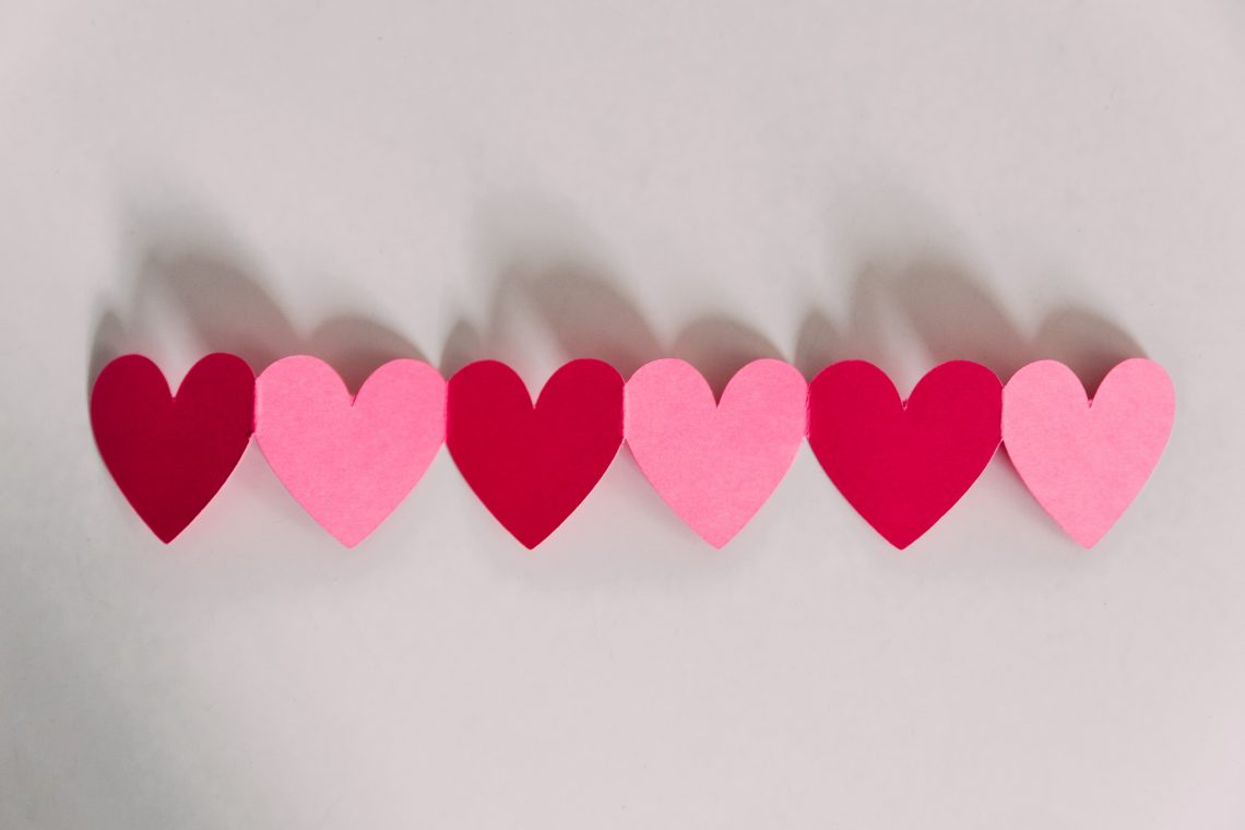 Valentine's Day Paper Hearts