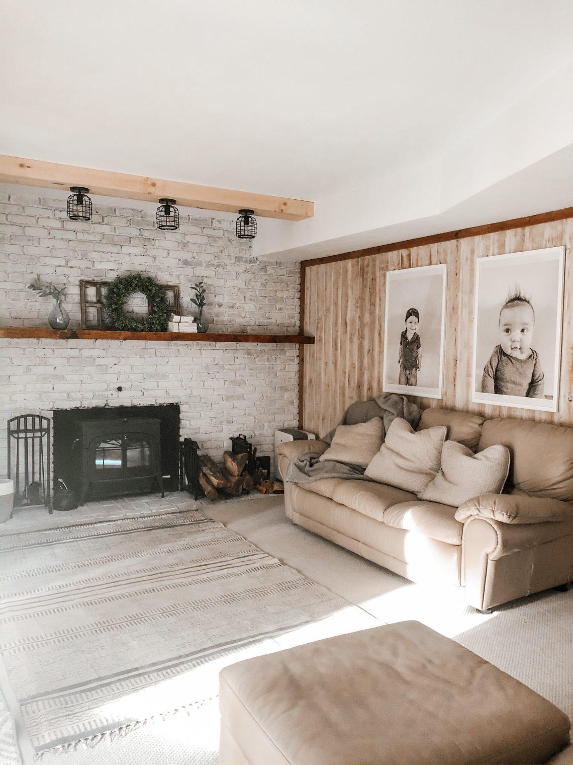 farmhouse family room renovation