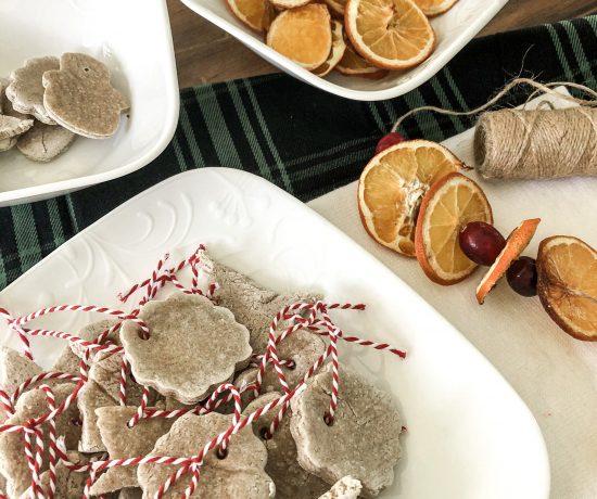 homemade scented salt dough ornaments
