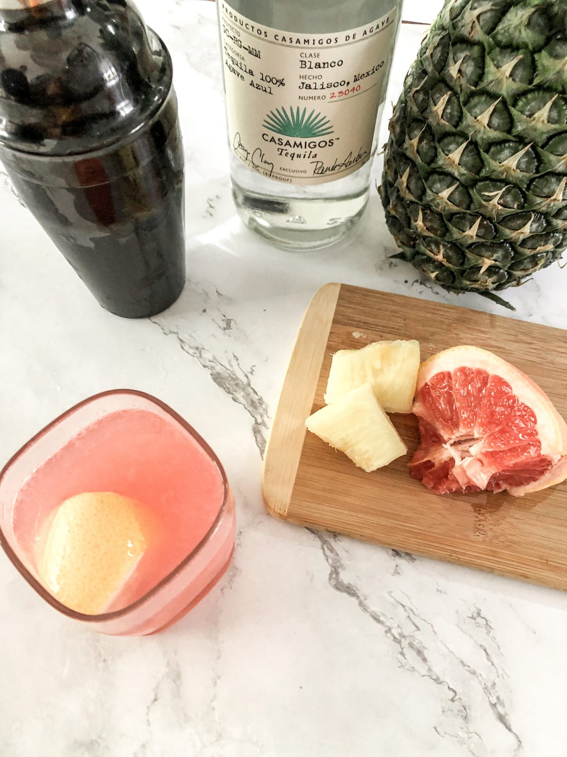 Pineapple grapefruit paloma